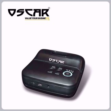 صورة OSCAR POS88MW Thermal Mobile Bill POS Receipt Printer Black & White