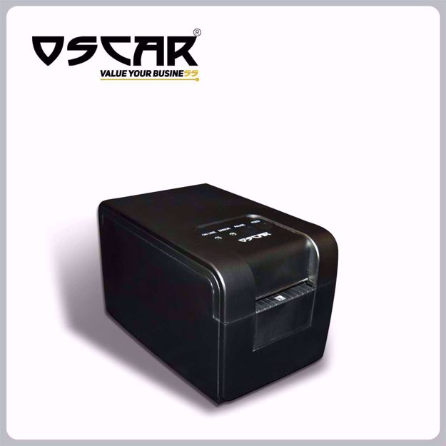 Picture of OSCAR POS58L Thermal Label Printer 58mm USB+Serial Black…